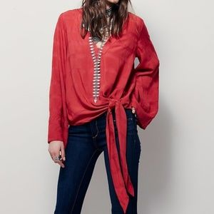 FREE PEOPLE Come What May Side Tie Top